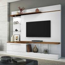 Estante para Home Theater Allure com Led Branco e Canyon 210 cm - Hb móveis