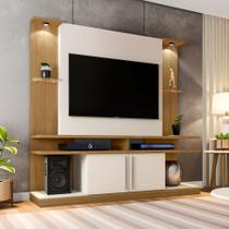 Estante para Home Theater e TV 60 Polegadas York Cinamomo e Off White - Bechara