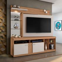 Estante para Home Theater e TV até 60 Polegadas Brasil Naturale e Off White - Jcm movelaria