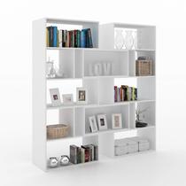 Estante para Livro Plenty 2 Ornament Manfroi Branco TX -