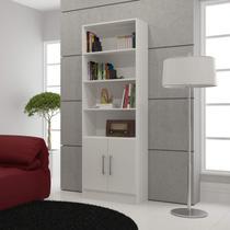 Estante para Livros 2 Portas Office BRV Móveis Branco -