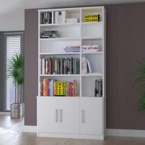 Estante para Livros 3 Portas 1280 Branco - Foscarini -
