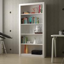 Estante para Livros 4 Prateleiras BL 01 Clássico BRV Móveis Branco -