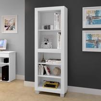 Estante para Livros 4 Prateleiras Dubai Clássico Arte Móveis Branco -