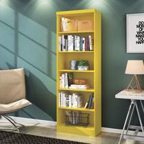 Estante para Livros 5 Prateleiras Linus Qmovi Amarelo -