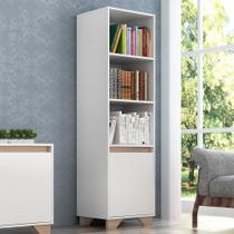 Estante Para Livros Benevello 1 Porta 4 Prateleiras 2033 Branco - Quiditá Móveis -