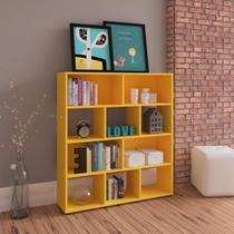 Estante para Livros com 10 Nichos Artely Amarelo -