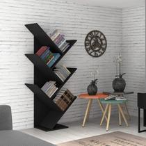 Estante para Livros Diagonal Spine Siena Móveis Preto -