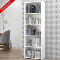 Estante para Livros e Decoração Suíça 4 Prateleiras 5 Nichos Brienza Decor -