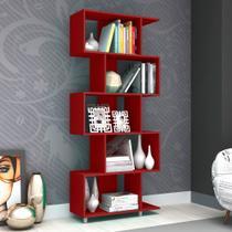 Estante para Livros Esm 209 Vermelho - Móvel Bento -