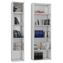 Estante para Livros Janaina e Luiza Branco Brilho - AJL - Ajl móveis