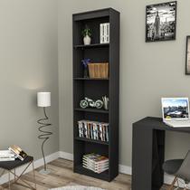 Estante para Livros Modular Biblioteca Zatto Slim Black da Haus -