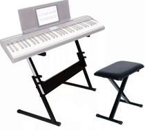 Estante Para Teclado e Piano Q1b + Banco BT10 Saty - Mellody