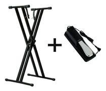 Estante Para Teclado Ou Piano Q2x + Pedal Sustain Mellody Mlstb1 -