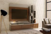 Estante para TV Áries I 220 cm Gianduia Dakota - Casa d