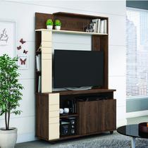 Estante para TV até 40 Polegadas com 2 Portas Due Belaflex Madero/Off White -