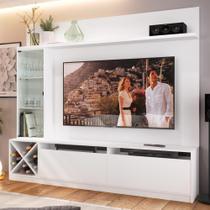 """Estante para TV Até 50"""" 2 Portas 2021 Bac Branco - Quiditá móveis"""
