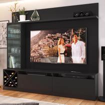 """Estante para TV Até 60"""" 3 Portas 2020 Ptx Preto - Quiditá móveis"""