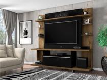Estante para TV Basel Madeira Rústica Preto Fosco - Bechara