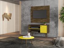 Estante para TV Delmiro Mesa Centro Madeira Amarelo - Bechara