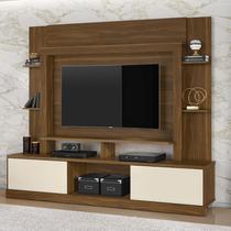 Estante Para TV e Home Theater 2 Portas Miami Belaflex Freijó/Off White -