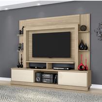 Estante para TV e Home Theater 2 Portas Miami Belaflex Macchiato/Off White -
