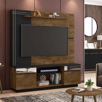 Estante para TV e Home Theater para TV até 60 Polegadas Aruba Rústico e Preto - Móveis bechara
