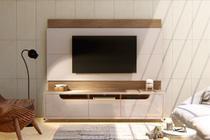 Estante para TV Immense 220 cm 3 gavetas Off White Noce - Casa d