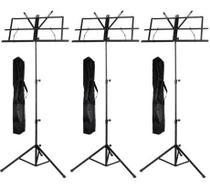 Estante Partitura Suporte Pedestal Regulavel Bag - Kit Com 3 - Mxt