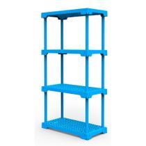 Estante Poly Com 4 Prateleiras Azul - I'm in