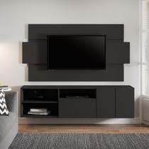 Estante Rack Painel Para Tv até 65' 185 Cm Malta MDP Cinza Vulcano - MenuMóveis - Menu Móveis