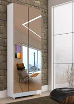 Estante Sala Adega Livreiro Armário Espelho Multiuso Magia Móveis -