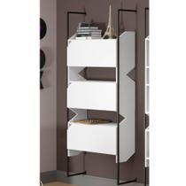 Estante Tubular com 3 Portas Soul 1007 Branco - Be mobiliário