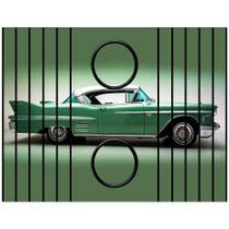 Esteira Bandeja Porta Copos Para Braço de Sofá Estampada  Carros Antigos 2 - Moblis