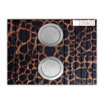 Esteira Decorativa Em Impressão Digital Para Sala De Estar Com 02 Porta Copos De Alumínio - Ides
