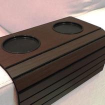 Esteira Para Braço De Sofá Flexível Com Porta Copos Estampa Tabaco - Outros