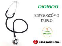 Estetoscópio Duplo Preto E100D - Bioland -