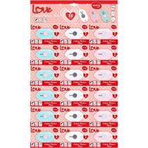 Estilete Estreito Love Heart Mini 3cores C/18 Molin Cartela -