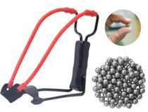 Estilingue Atiradeira Nautika Jabuti Potente Com Apoio De Pulso + 100 Esferas em Aço -