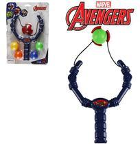 Estilingue de Brinquedo c/ 4 Bolas Avengers 19cm - 130201 - Etilux