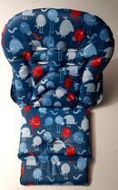 Estofado Cadeira Merenda Passarinho Azul Burigotto 8000 -