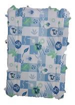 Estofado Capa Banheira Millenia Modelo Antigo Burigotto Peixinho Azul -