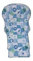 Estofado Ou Capa Cadeira Merenda Burigotto Peixinho Azul -