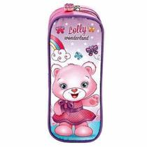 Estojo 2 ziperes lolly wonderland rosa colorizi - Yangzi