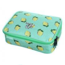 Estojo Box Necessaire Capricho Lemon Verde Soft Luxo 11844 - Dmw