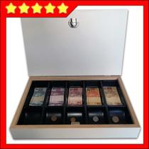 estojo caixa porta dinheiro notas moedas gaveta - Balcões.Tk