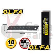 Estojo de Lâminas Olfa LBB-10B BLACK de 18 x 0,5 mm com 10 unidades - 11659 -