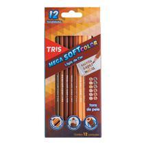 Estojo de Lápis de Cor Tris Mega Soft Color Tons de Pele 12 cores  687735 -