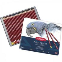 Estojo de Metal com 24 Lapis Pastel Pencils - DERWENT