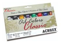 Estojo De Tinta A Óleo Oil Colors Classic 8 Bisnagas Acrilex -